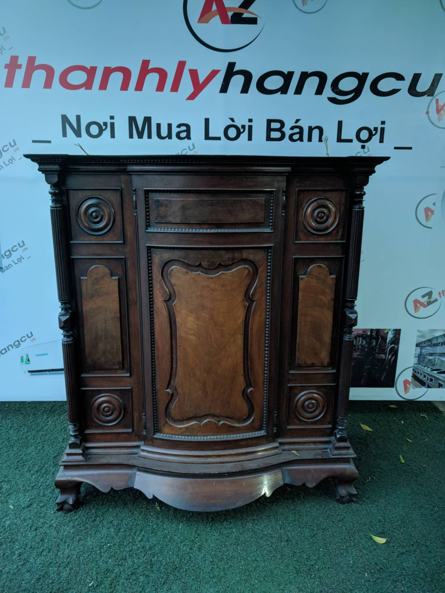 Tủ thờ xưa thanh lý gỗ gõ đỏ Việt Nam