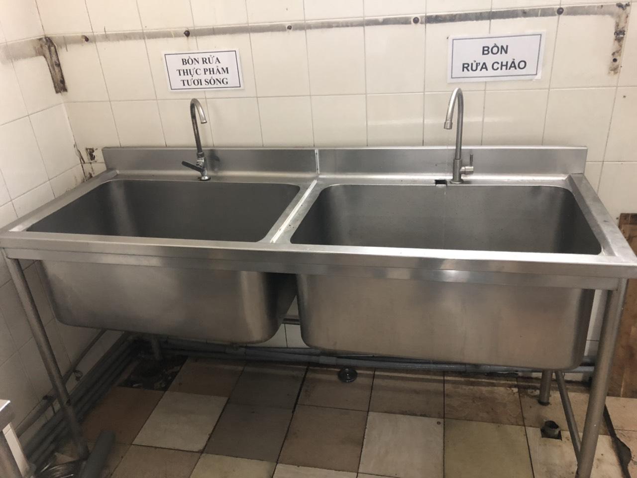 Bồn rửa chén inox 304 hai hộc 985