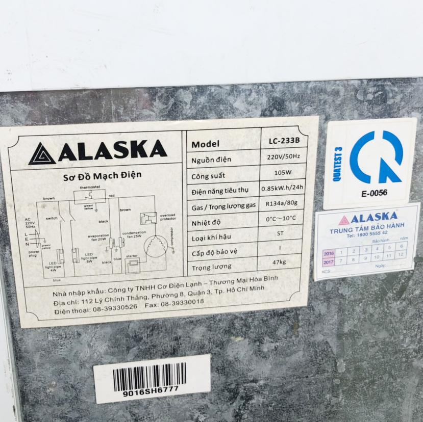 Tủ mát Alaska cũ 1110