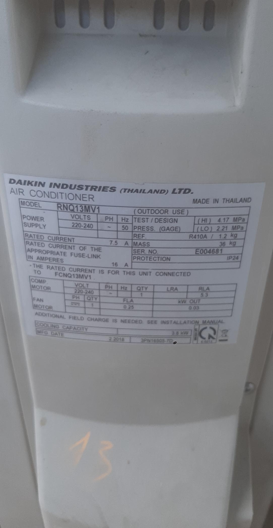 Điều hòa âm trần Daikin SP000919