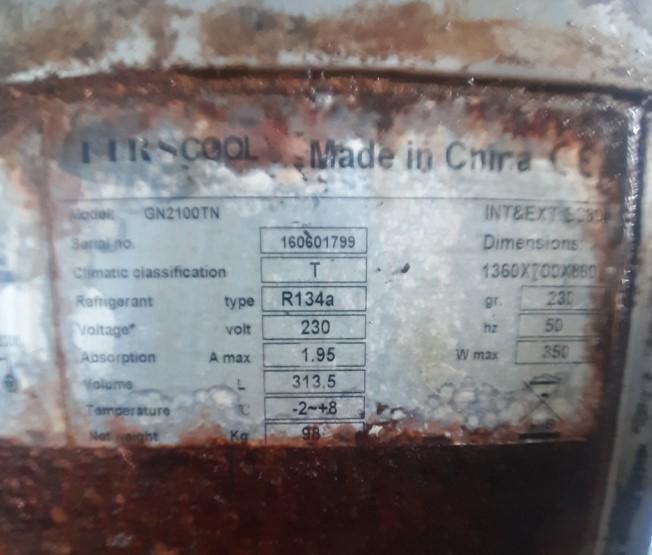 Firscool GN2100TN bàn mát 2 cánh inox SP001004