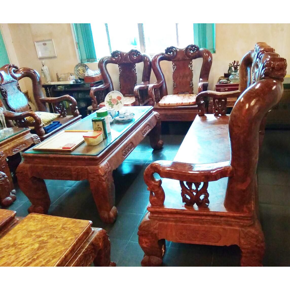 Bộ salon gỗ nu nghiến 1029