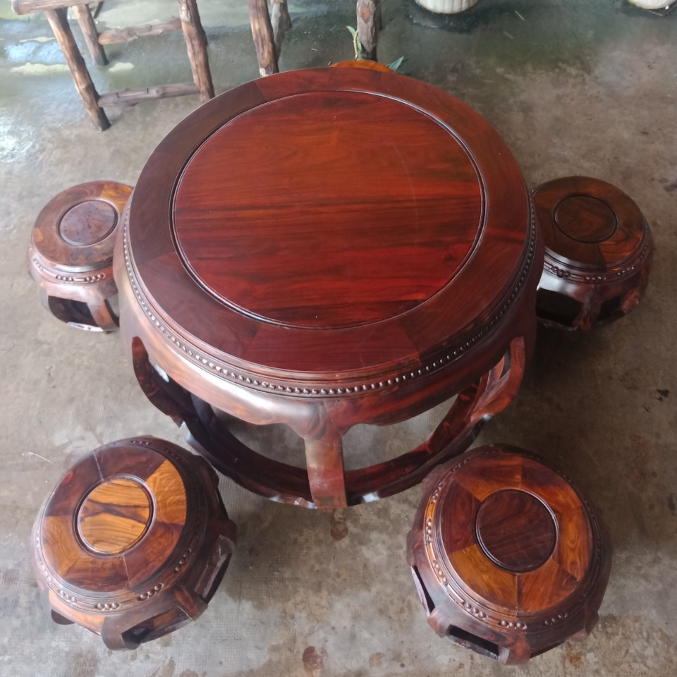 Bộ Bàn Ghế Tròn Gỗ Cẩm Lai cũ 1080