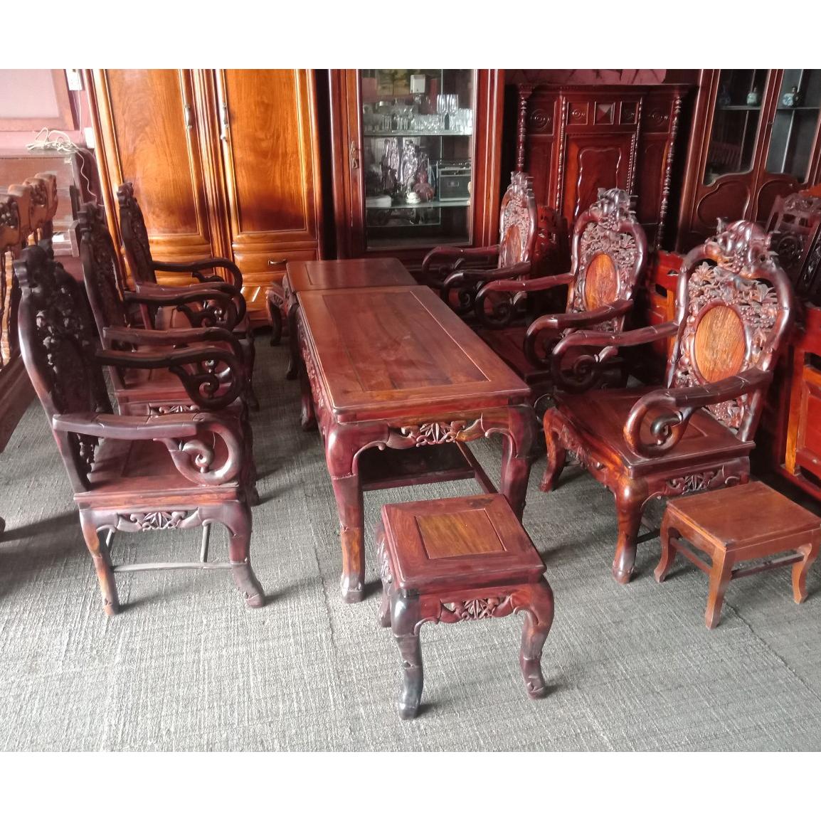 thanh lý bộ bàn ghế gỗ phòng khách cũ tại hải phòng 0834.567.824