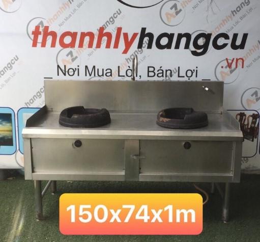 Bếp Á 2 họng có vòi rửa cũ SP000237