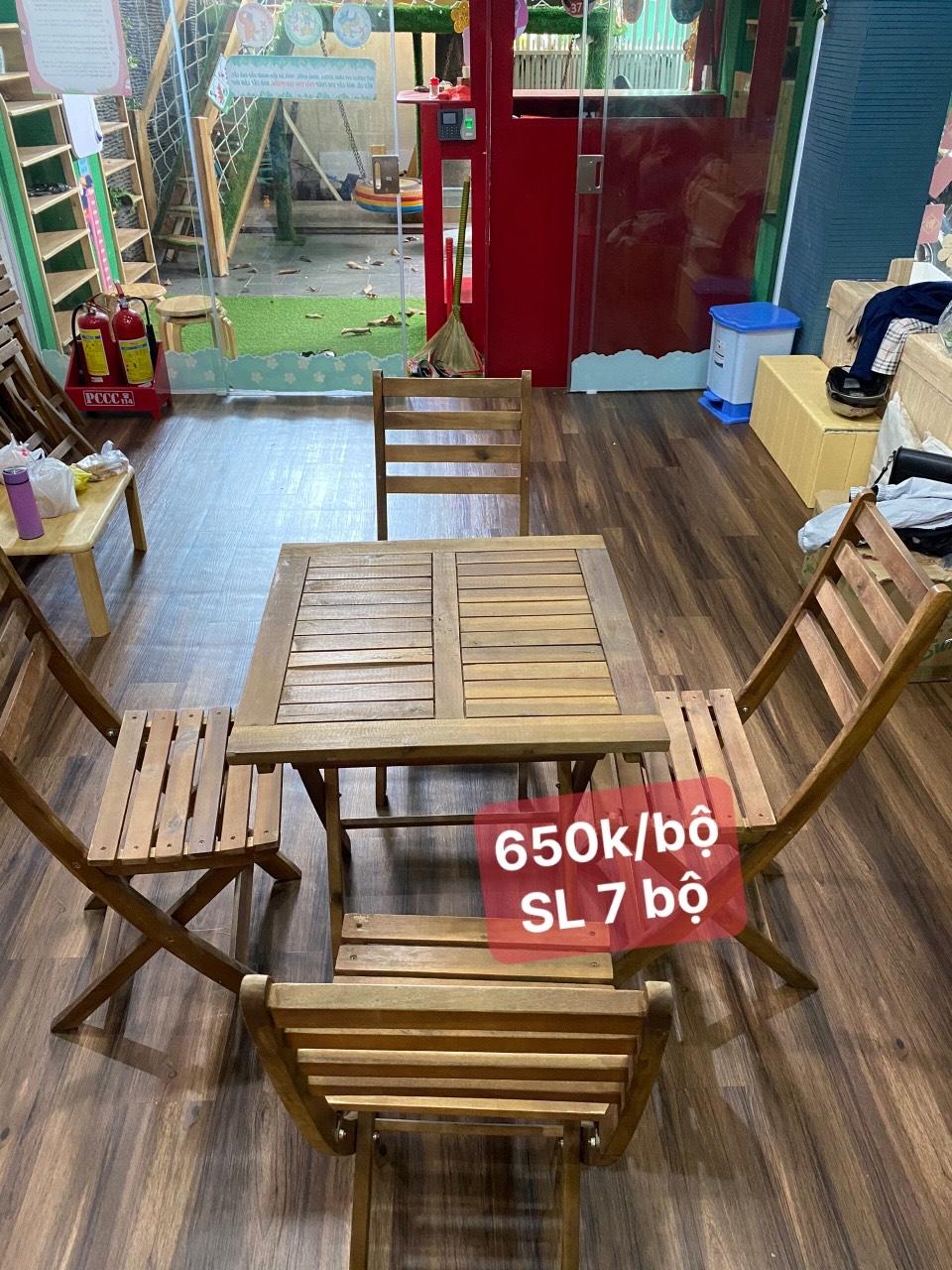 bàn ghế xếp quán cafe SP000970