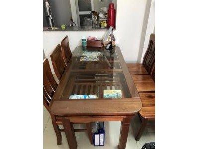 Bộ bàn ăn gỗ sồi 6 ghế nhập khẩu