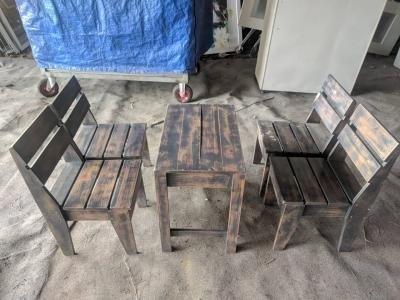 Bàn ghế gỗ thông mini 0089