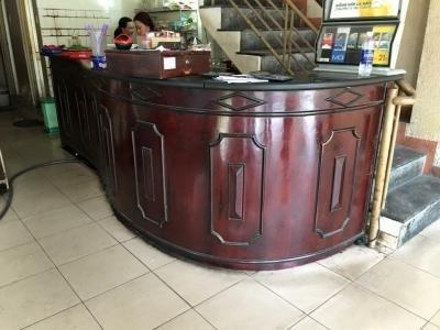 Quầy bar cafe gỗ tự nhiên cũ thanh lý