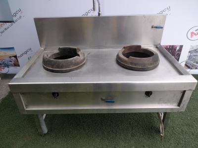 Bếp Á công nghiệp 2 họng có vòi rửa 319