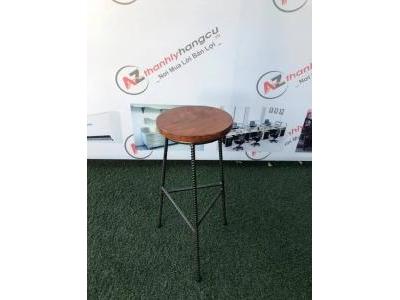 Ghế bar gỗ chân sắt không tựa giá rẻ