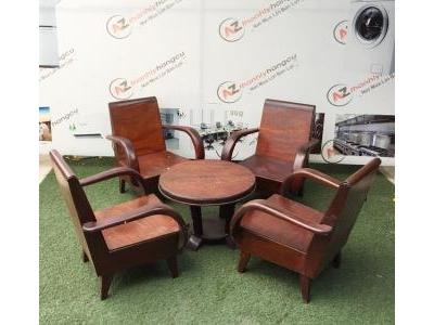 Bàn ghế cafe gỗ kiểu xưa