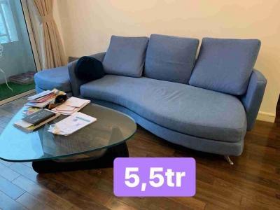 Bàn ghế sofa màu xanh 812