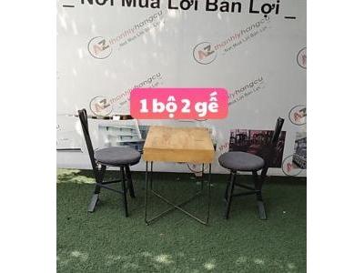 Bàn ghế chân sắt 928