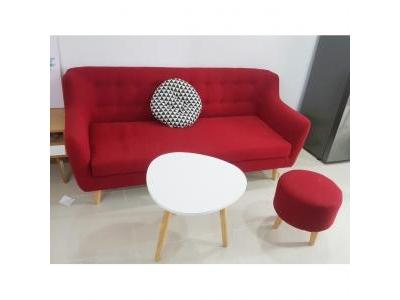 Sofa phòng khách màu đỏ 1012