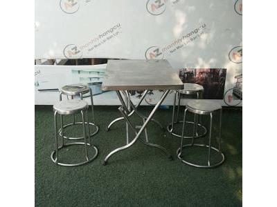 Bàn ghế quán ăn inox 1057