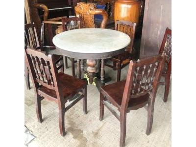 Bàn ghế cũ xưa gỗ hương 1120
