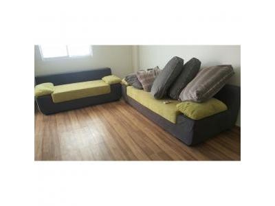 Bàn ghế sofa nỉ cũ 1169