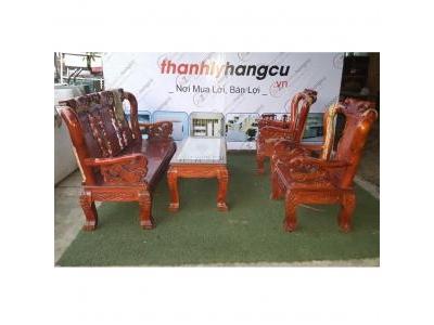Salon bàn ghế gỗ xoan đào 1055