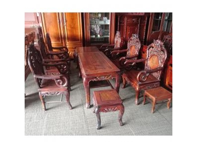 Bộ bàn ghế gỗ cẩm lai cũ 1145