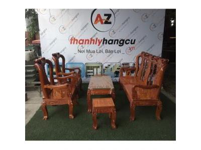 Bàn ghế gỗ đỏ 6 món cũ 1281