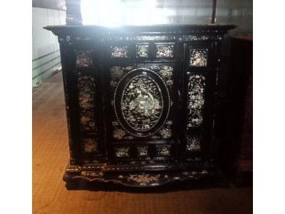 Tủ thờ gỗ xưa khảm trai SP000346