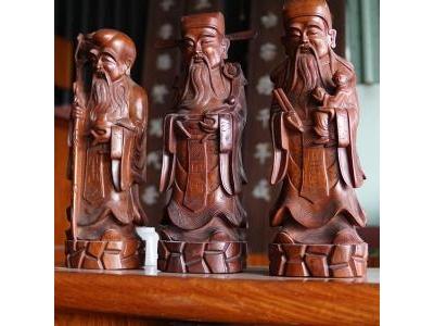 Tượng Tam Đa – Phúc Lộc Thọ gỗ hương SP000422