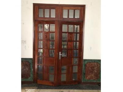 Bộ cửa 2 cánh gỗ đỏ SP000426