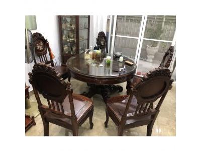 Bộ bàn ăn 8 ghế cẩm lai SP000440