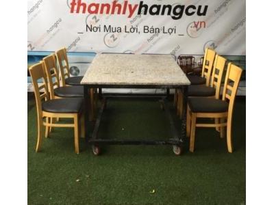 Bộ bàn ăn ghế nệm nhà hàng SP000470