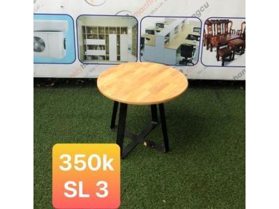 Bàn cafe gỗ chân sắt SP000529