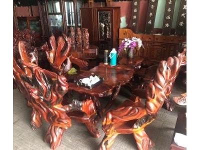 Bộ bàn ghế gốc cây Gỗ Hương và gỗ Đỏ SP000569