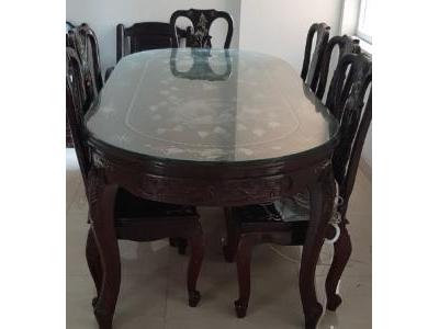 bộ bàn ăn gỗ mật SP000603