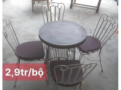 bàn ghế sắt mỹ thuật SP000827