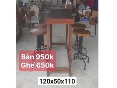 bàn ghế quán bar SP000828