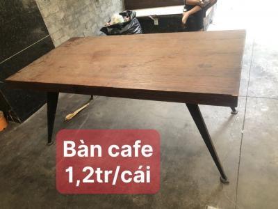 Bàn cafe gỗ chân sắt SP000531