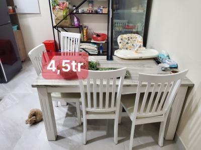 Bộ bàn ăn mặt đá SP000976
