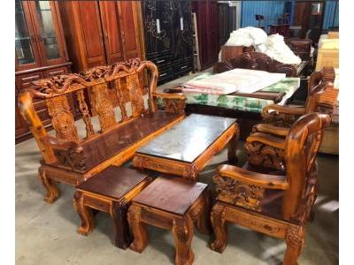 Bộ bàn ghế gỗ tràm 6 món SP001048